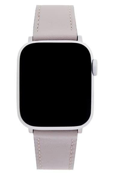 <p>If they have an Apple Watch, they would love this <span>Rebecca Minkoff Leather Strap</span> ($49).</p>