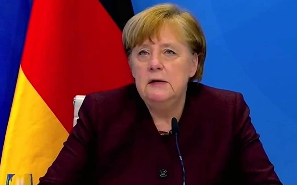 Angela Merkel is said to fear that new virus mutations could cause an explosion in cases - AFP