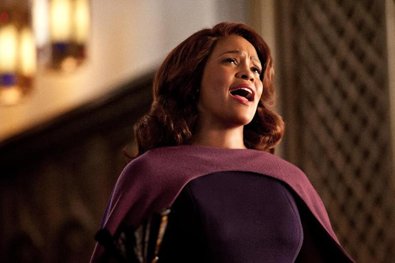 """This undated film image released by TriStar Pictures shows Whitney Houston in a scene from """"Sparkle."""" (AP Photo/TriStar Pictures - Sony, Alicia Gbur)"""