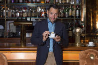 Chef Mario Carbone poses for a photo at Carbone on Thursday, May 20, 2021, in Miami Beach, Fla. (Photo by Scott Roth/Invision via AP)