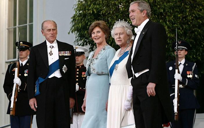 Former President George W. Bush and his wife Laura hosted the Queen and Prince Philip in 2007 - REUTERS/Jason Reed
