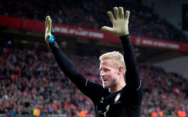 Kasper Schmeichel was outstanding as Denmark won 1-0 at home to Switzerland (AFP Photo/Liselotte Sabroe)