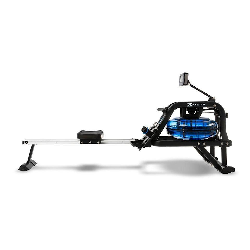 """<p><strong>Spirit Fitness</strong></p><p>dickssportinggoods.com</p><p><strong>$499.99</strong></p><p><a href=""""https://www.dickssportinggoods.com/p/xterra-erg600w-water-rower-19iqduxtrrrg600wwmsc"""" rel=""""nofollow noopener"""" target=""""_blank"""" data-ylk=""""slk:Shop Now"""" class=""""link rapid-noclick-resp"""">Shop Now</a></p><p>You'll feel more Zen during your rowing workout thanks to the sound of water flowing with each stroke you take on this rower. The water resistance makes for smooth rowing, too, and allows you to feel like you're actually rowing on the water. Six different resistance levels are available and determined by how much water you put in the tank. When it's not in use, its fold-up frame allows you to store it without taking up so much space.</p>"""