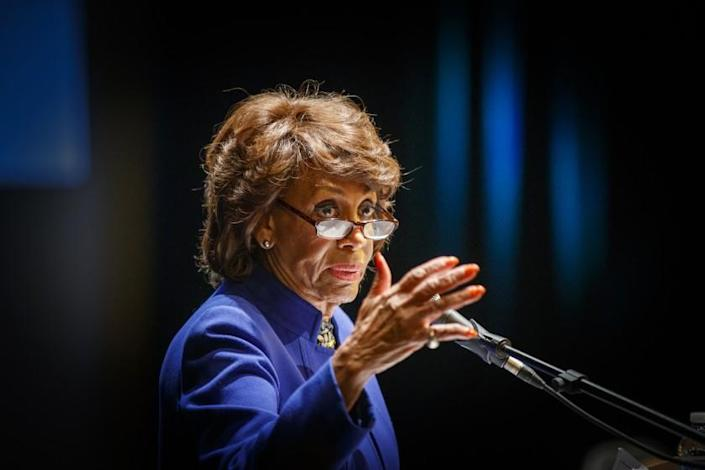 LOS ANGELES, CALIF. -- FRIDAY, JANUARY 24, 2020: Congresswoman Maxine Waters (CA-43) hosts a community meeting to discuss the recent Delta Airlines Flight #89 fuel dump over Los Angeles County schools and communities at Los Angeles Southwest College Little Theater Friday, Jan. 24, 2020. The meeting featured local officials and representatives from the Los Angeles County and City Fire Departments, Los Angeles County Health Department, and Los Angeles Unified School District who discussed the fuel dump and answered questions from concerned members of the community. A mobile medical clinic was on-site to provide medical evaluations of residents who may have been exposed to jet fuel or fumes. (Allen J. Schaben / Los Angeles Times)