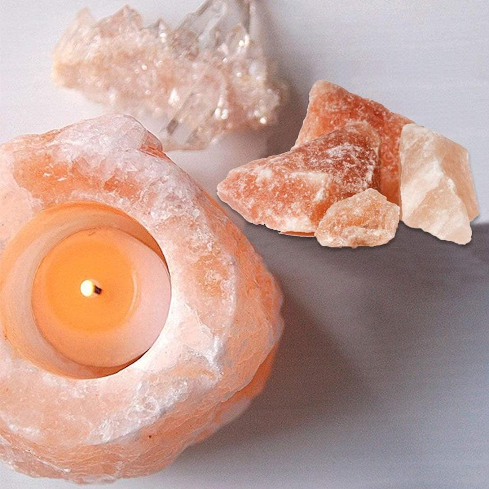 <p>Complete with a soothing glow, this <span>Himalayan Pink Salt Candle Holder</span> ($13) will not only boost their mood and improve sleep, but it will also add a cute piece of decor to their room.</p>