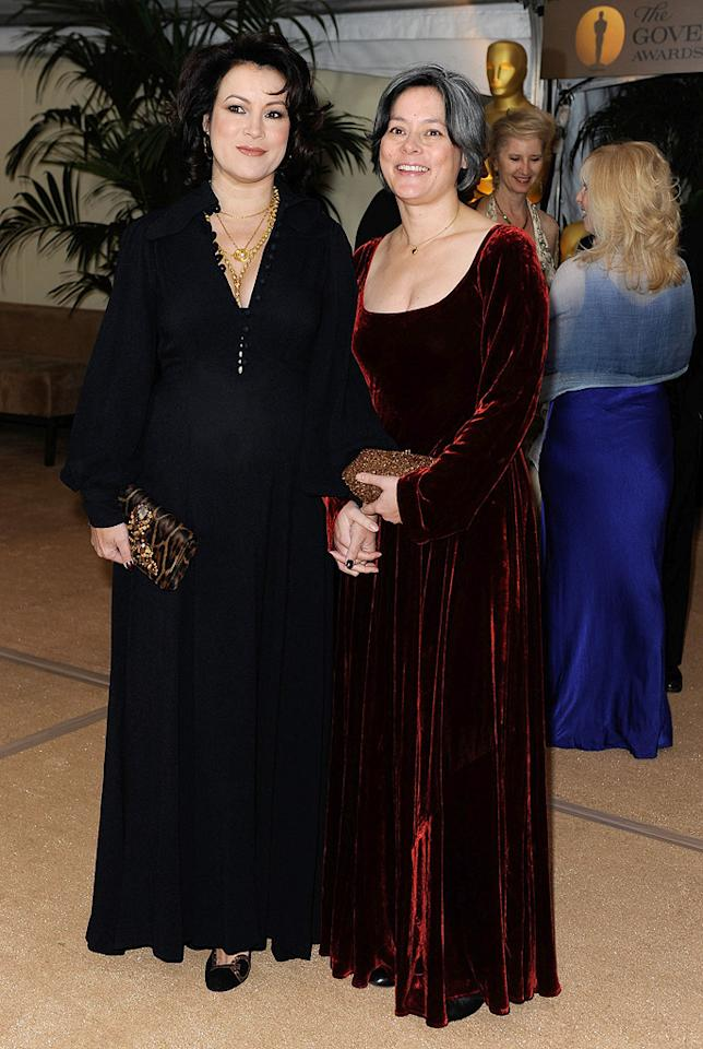 """<a href=""""http://movies.yahoo.com/movie/contributor/1800018758"""">Jennifer Tilly</a> and <a href=""""http://movies.yahoo.com/movie/contributor/1800014235"""">Meg Tilly</a> at the Academy of Motion Picture Arts and Sciences' Inaugural Governors Awards - 11/14/2009"""