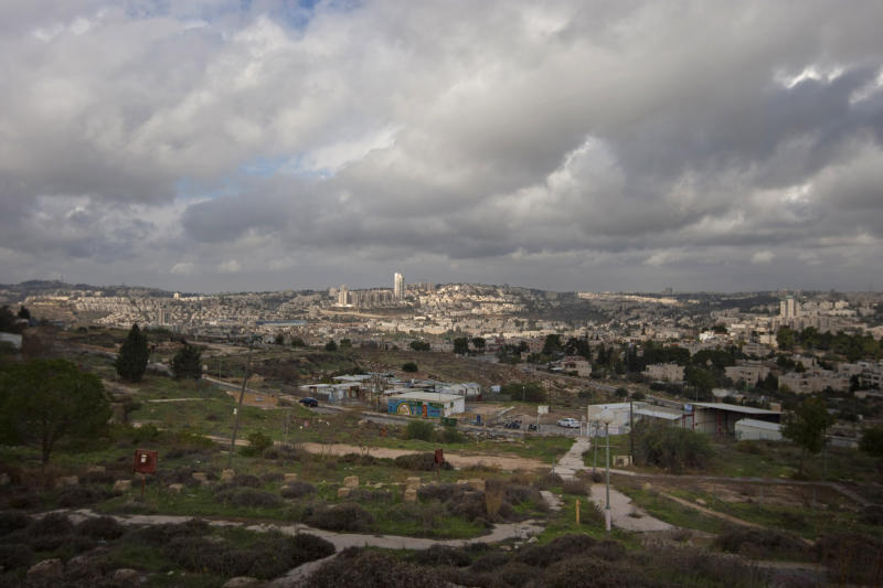 General view of Givat Hamatos area in east Jerusalem, Wednesday, Dec. 5, 2012. An Israeli-Palestinian showdown over plans for new Jewish settlements around Jerusalem escalated on Wednesday: Israel pushed the most contentious of the projects further along in the planning pipeline, while the Palestinian president said he would seek U.N. Security Council help to block the construction. (AP Photo/Sebastian Scheiner)