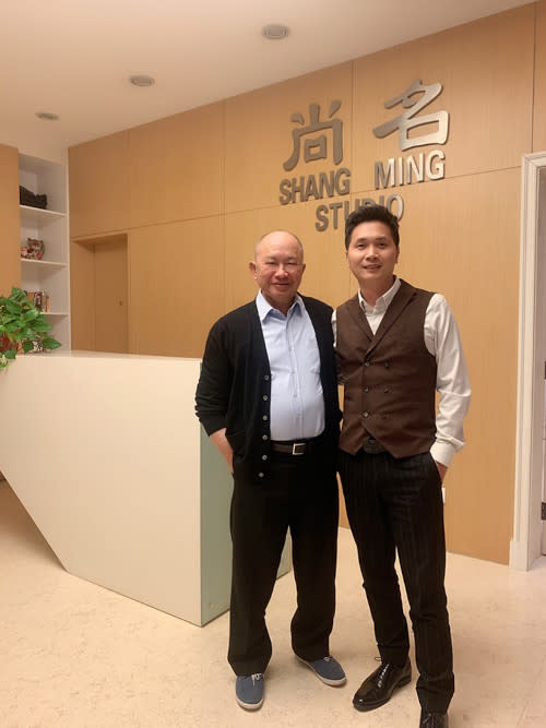John Woo was spotted with producer Liao Baojun to talk about the online project