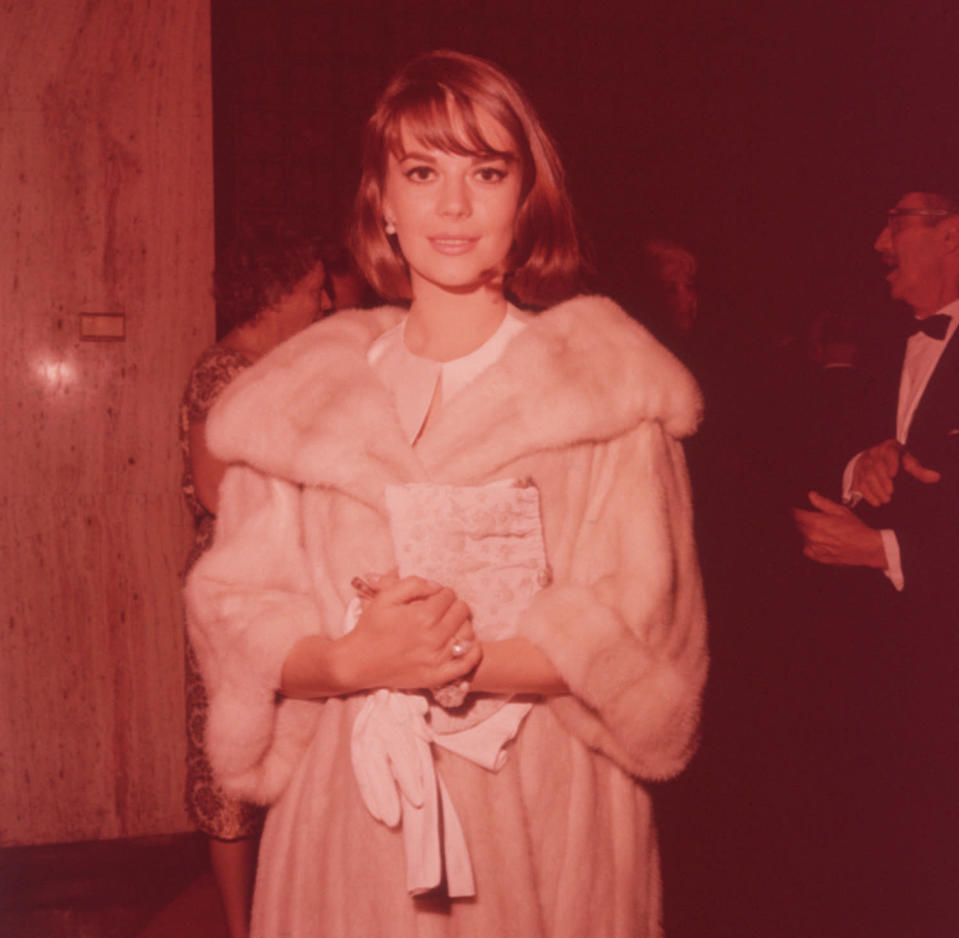 <p>Darlene Hammond took this photo of late actress Natalie Wood looking glamorous in a fur coat in 1962. </p>