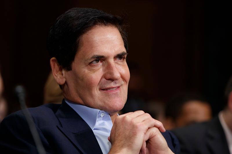 FILE - In this Wednesday, Dec. 7, 2016 file photo, AXS TV Chairman and Dallas Mavericks owner Mark Cuban listens on Capitol Hill in Washington while testifying before a Senate Judiciary subcommittee hearing on the proposed merger between AT&T and Time Warner. President Donald Trump's performance in the White House is making it harder for Republicans and billionaires in the coming elections. That's according to two prominent Trump critics, billionaire businessman Mark Cuban and former Florida Gov. Jeb Bush, who lashed out at the GOP president Saturday, July 22, 2017 during a summer festival in New York City. (AP Photo/Evan Vucci, File)