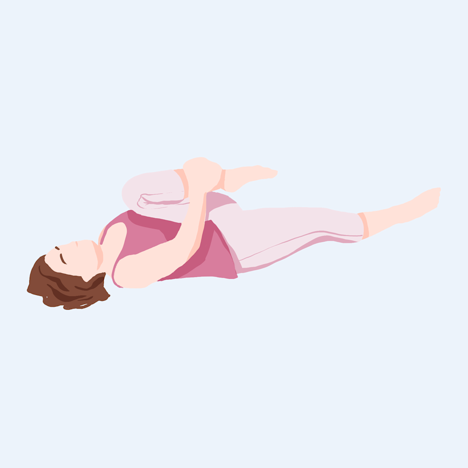 Bed Yoga: Hip opener stretch
