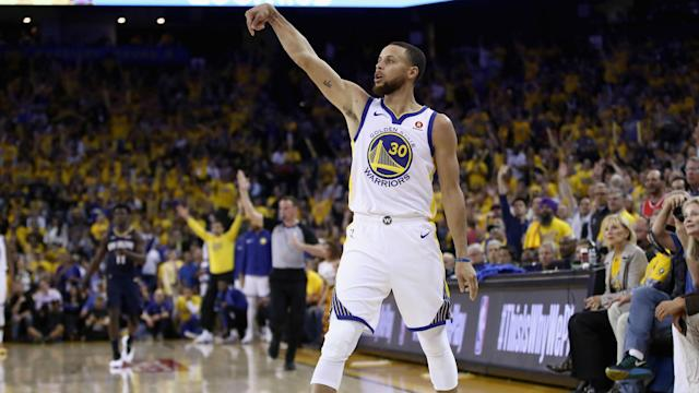 Stephen Curry produced another impressive display as the Warriors advanced to the NBA's Western Conference finals.