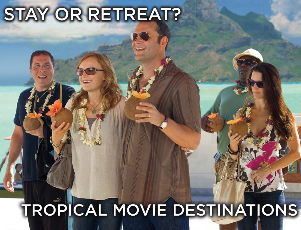 "There is no such thing as a perfect vacation spot. Take, for example, the upcoming comedy ""<a href=""http://movies.yahoo.com/movie/1810045875/info"">Couples Retreat</a>,"" where <a href=""http://movies.yahoo.com/movie/contributor/1800018691"">Vince Vaughn</a> and friends travel to Bora Bora to stay at the picturesque Eden Resort. It seems like paradise, until they discover that they must undergo intensive counseling sessions just to keep from getting thrown out. Click ahead to see some other remote getaways from the movies, along with the pros and cons of taking a trip there."