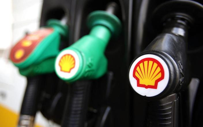 Shell sing on pump