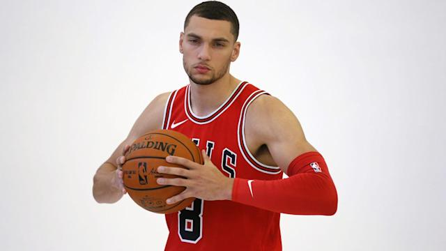 """The Bulls added <a class=""""link rapid-noclick-resp"""" href=""""/nba/players/5324/"""" data-ylk=""""slk:Zach LaVine"""">Zach LaVine</a> in the draft-night trade that shipped <a class=""""link rapid-noclick-resp"""" href=""""/nba/players/4912/"""" data-ylk=""""slk:Jimmy Butler"""">Jimmy Butler</a> to Minnesota."""
