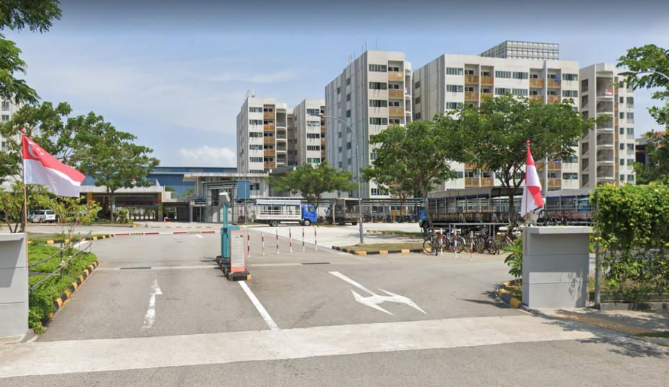 Tuas South Dormitory is declared an isolation area by MOM. (PHOTO: Screenshot/Google Maps)