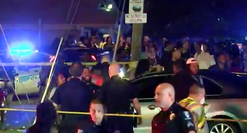 Police on the scene of a fatal shooting in Charlotte, North Carolina. Source: wbtv