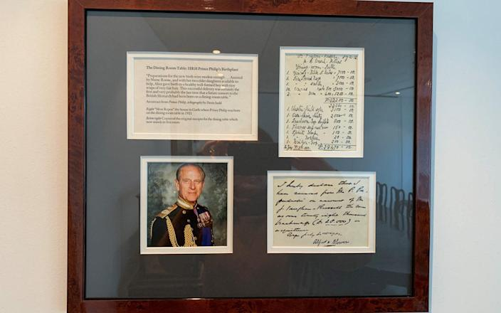 The original invoice of the sale of the Greek royal family's furniture is framed on the boardroom wall - Howe Robinson