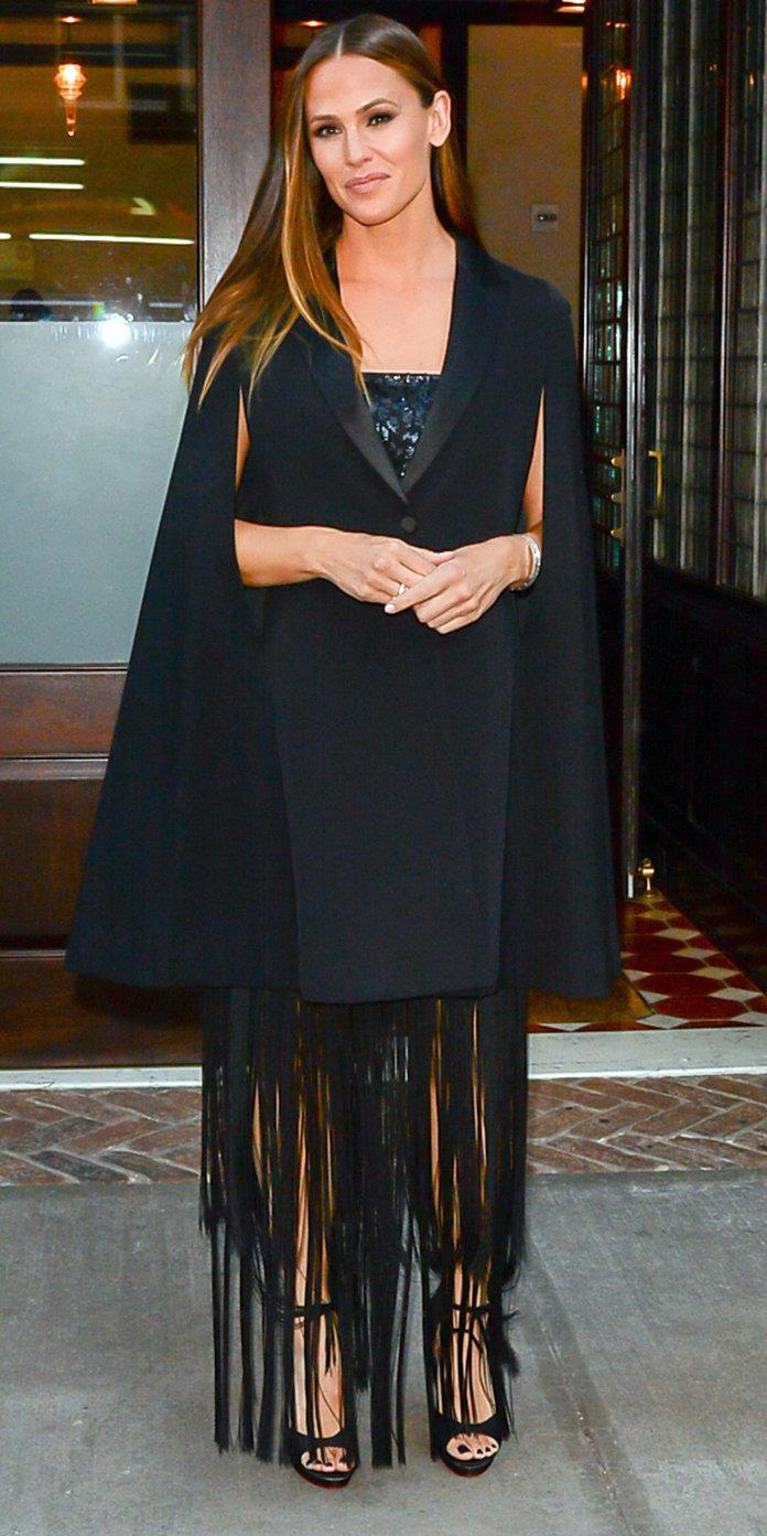 The star recycled the Givenchy cape she originally sported at the gala last year.