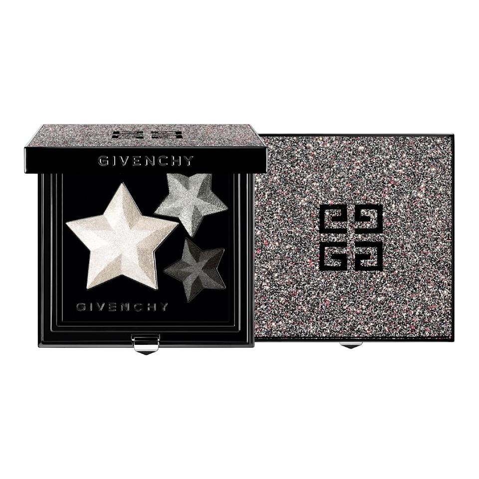 """<p>Anyone who's obsessed with old-Hollywood glamour might keel over at the sight of Givenchy's glimmery 2020 holiday collection. Our favorite addition is undoubtedly the Back to Light Eye Shadow Palette, a trio of star-shaped eye shadows in matte and satin finishes and grayscale hues. </p> <p><strong>$52</strong> (<a href=""""https://www.givenchybeauty.com/us/makeup/eyes/eyeshadow/"""" rel=""""nofollow noopener"""" target=""""_blank"""" data-ylk=""""slk:Available November"""" class=""""link rapid-noclick-resp"""">Available November</a>)</p>"""