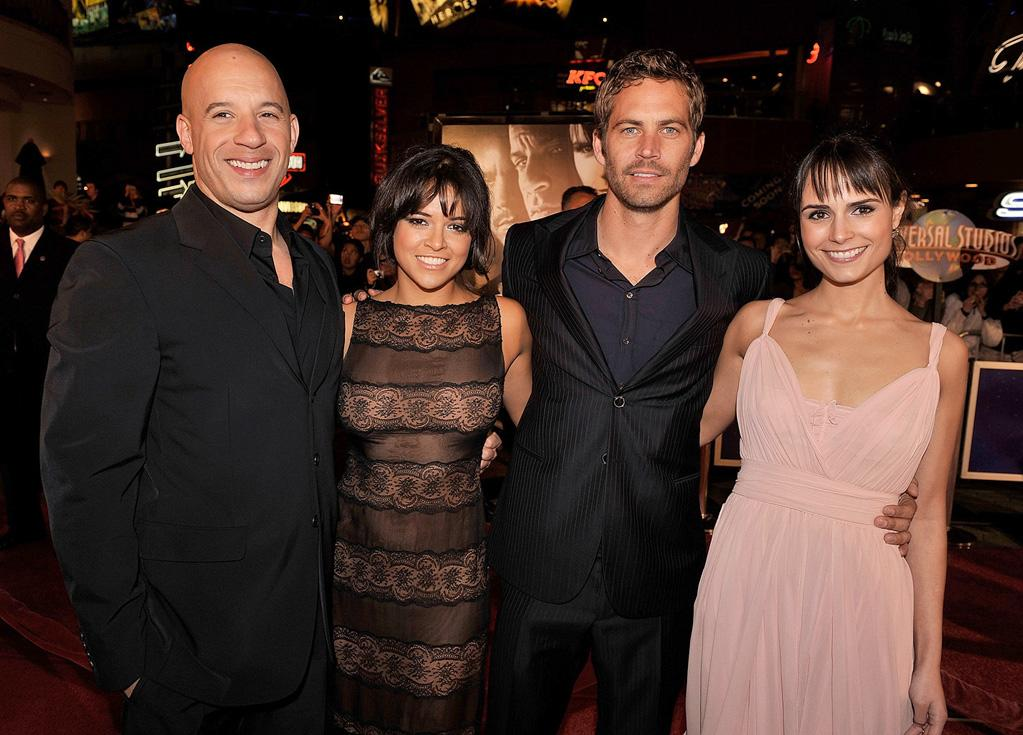 "<a href=""http://movies.yahoo.com/movie/contributor/1800020716"">Vin Diesel</a>, <a href=""http://movies.yahoo.com/movie/contributor/1800354386"">Michelle Rodriguez</a>, <a href=""http://movies.yahoo.com/movie/contributor/1800019262"">Paul Walker</a> and <a href=""http://movies.yahoo.com/movie/contributor/1800025479"">Jordana Brewster</a> at the Los Angeles premiere of <a href=""http://movies.yahoo.com/movie/1809989992/info"">Fast & Furious</a> - 03/12/2009"