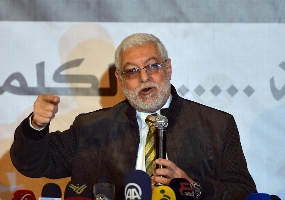 Mahmud Hussein, pictured in Cairo in March 2013, is among Muslim Brotherhood leaders believed to be moving out of Qatar, possibly to Turkey (AFP Photo/Khaled Desouki)