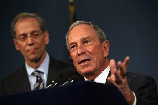New York City Mayor Michael Bloomberg speaks to the media about the limiting of large size sugary drinks during a press conference. New York became the first city in the United States to impose a limited ban on super-sized soda drinks blamed by Bloomberg for fueling a national obesity crisis