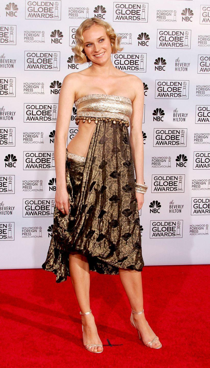 <p>While Kruger is one of the most stylish stars, this dress with draped fabric was a major misstep in 2005.</p>