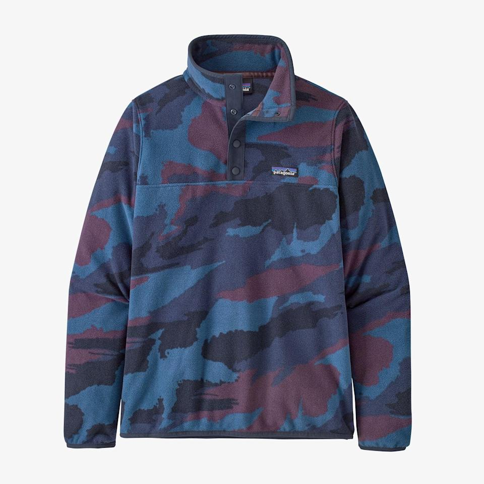 """<p>You can feel good when you buy any of Patagonia's products. The brand has a self-imposed one-percent Earth tax that """"provides support to environmental nonprofits working to defend our air, land, and water around the globe.""""</p> <p><strong>What We'd Buy</strong>: <span>Patagonia Women's Micro D Snap-T Fleece Pullover</span> ($89)</p>"""