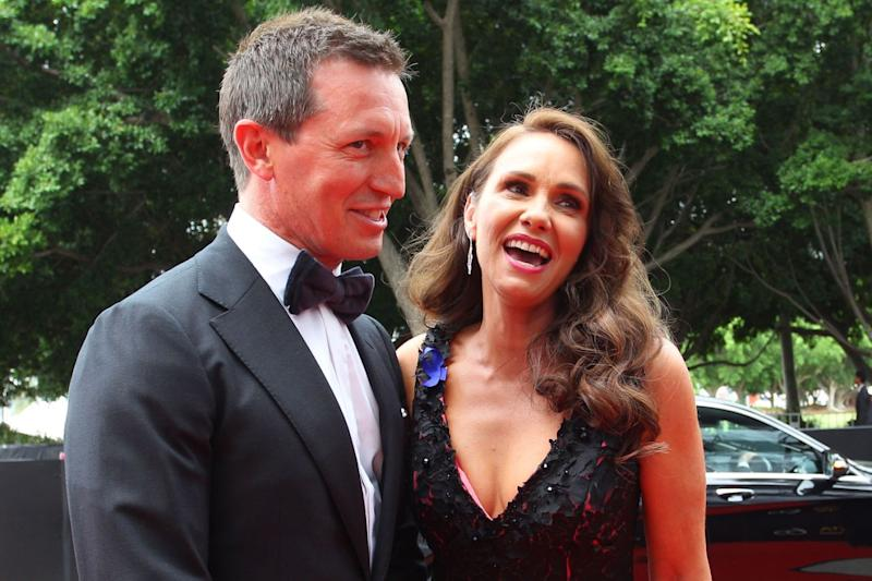 Tasma Walton and Rove McManus attend the 2018 AACTA Awards Presented by Foxtel at The Star on December 5, 2018 in Sydney, Australia. Photo: Getty Images.