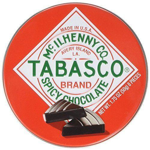 """<p><strong>TABASCO</strong></p><p>amazon.com</p><p><strong>$5.85</strong></p><p><a href=""""https://www.amazon.com/dp/B00AQTVFHW?tag=syn-yahoo-20&ascsubtag=%5Bartid%7C1782.g.994%5Bsrc%7Cyahoo-us"""" rel=""""nofollow noopener"""" target=""""_blank"""" data-ylk=""""slk:BUY NOW"""" class=""""link rapid-noclick-resp"""">BUY NOW</a></p><p>Keep things spicy with these Tabasco dark chocolate wedges.</p>"""