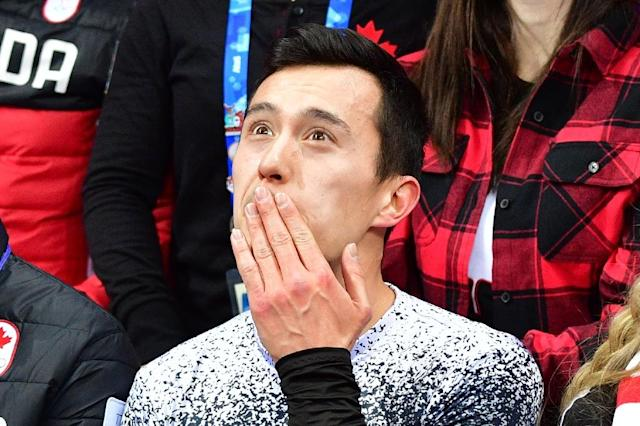 Dual Sochi 2014 silver medallist Patrick Chan fell twice but Canada confirmed their position as favourites for Olympic figure skating team gold (AFP Photo/Mladen ANTONOV)
