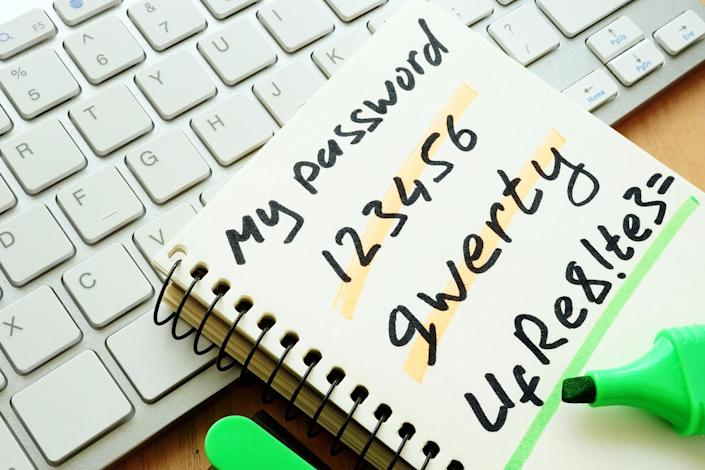 The study identified the most popular passwords, including 'qwerty', and phrases such as 'iloveyou'. Source: Getty