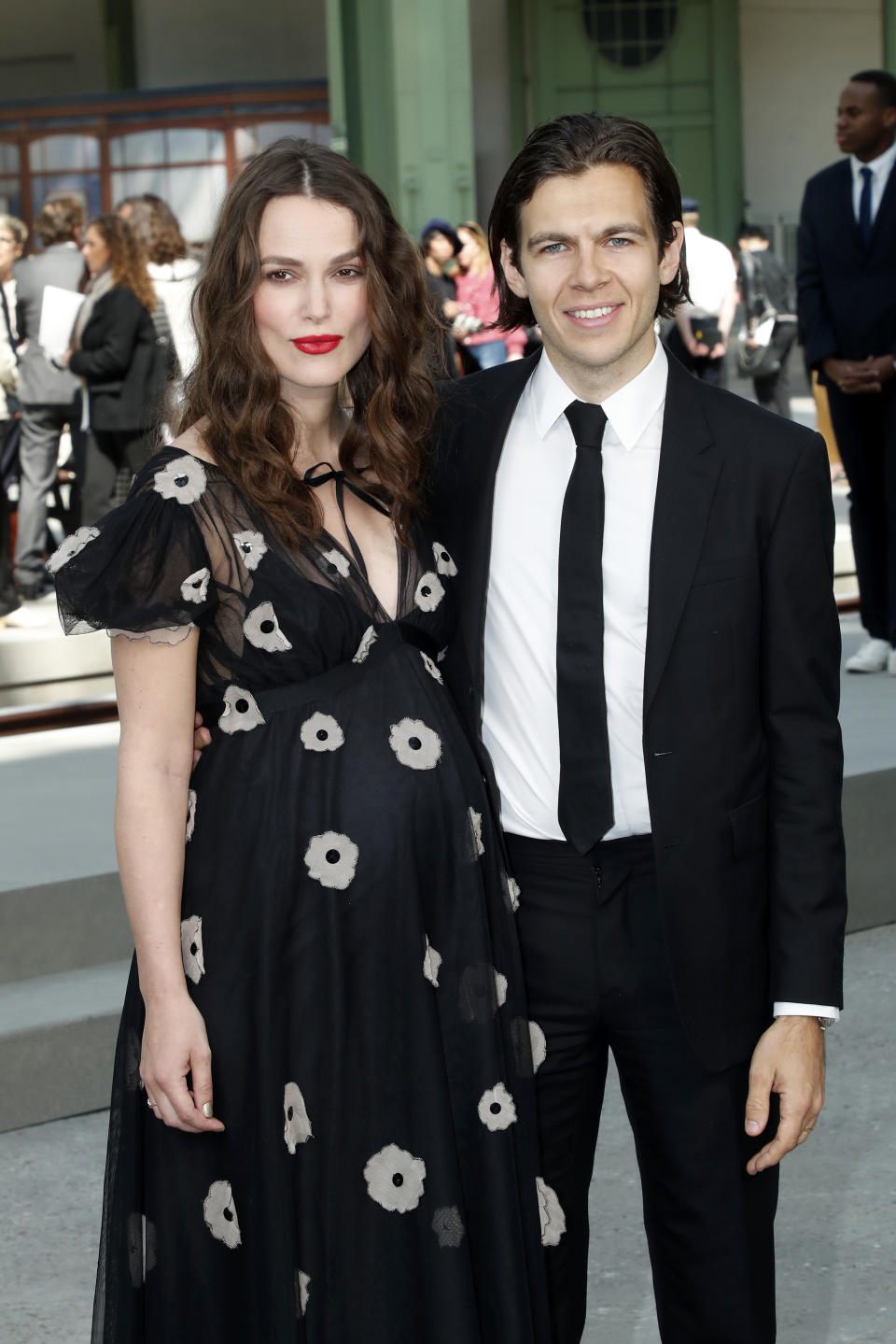 PARIS, FRANCE - MAY 03: Keira Knightley and James Righton attend the Chanel Cruise Collection 2020 : Front Row at Le Grand Palais on May 03, 2019 in Paris, France. (Photo by Bertrand Rindoff Petroff/Getty Images)