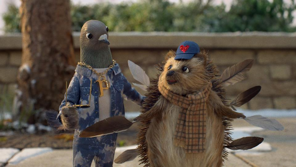 Part of the advert features a cute hedgehog. (John Lewis/Waitrose)
