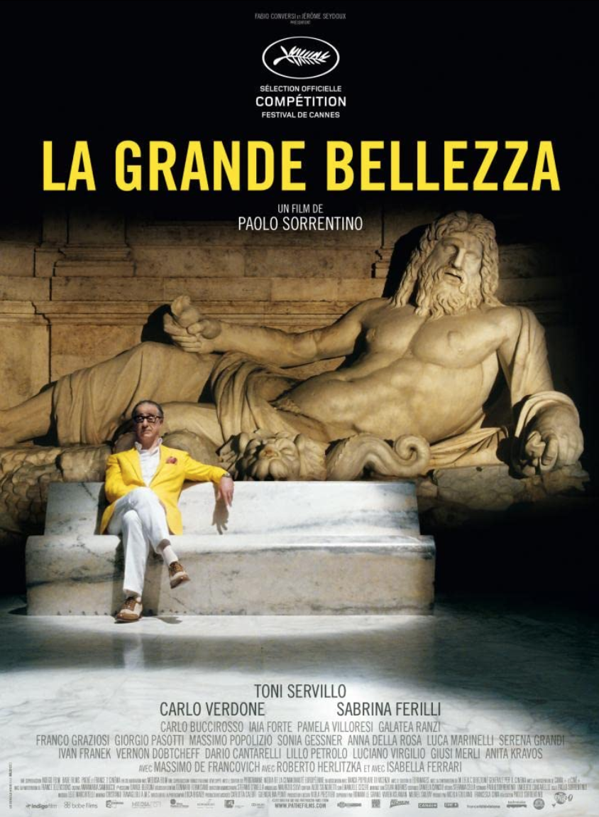 """<p>If <em>American Beauty</em> is the suburban ennui meditation that has grown a bit of mold, Paolo Sorentino's <em>La Grande Belezza </em>(<em>The Great Beauty</em>) is the urban ennui meditation sure to age like the best of Italian wine. A Roman socialite, coasting through the city's high life—parties, dinners, women—undergoes crisis. And then everything gets very sad and then very beautiful. It's one of those films you just have to block off a night and watch with a bottle of red.</p><p><a class=""""link rapid-noclick-resp"""" href=""""https://www.amazon.com/Great-Beauty-English-Subtitled/dp/B00H9SWZ90/ref=sr_1_1?dchild=1&keywords=la+grande+bellezza&qid=1622132013&s=instant-video&sr=1-1&tag=syn-yahoo-20&ascsubtag=%5Bartid%7C2139.g.36530740%5Bsrc%7Cyahoo-us"""" rel=""""nofollow noopener"""" target=""""_blank"""" data-ylk=""""slk:STREAM IT HERE"""">STREAM IT HERE</a></p>"""