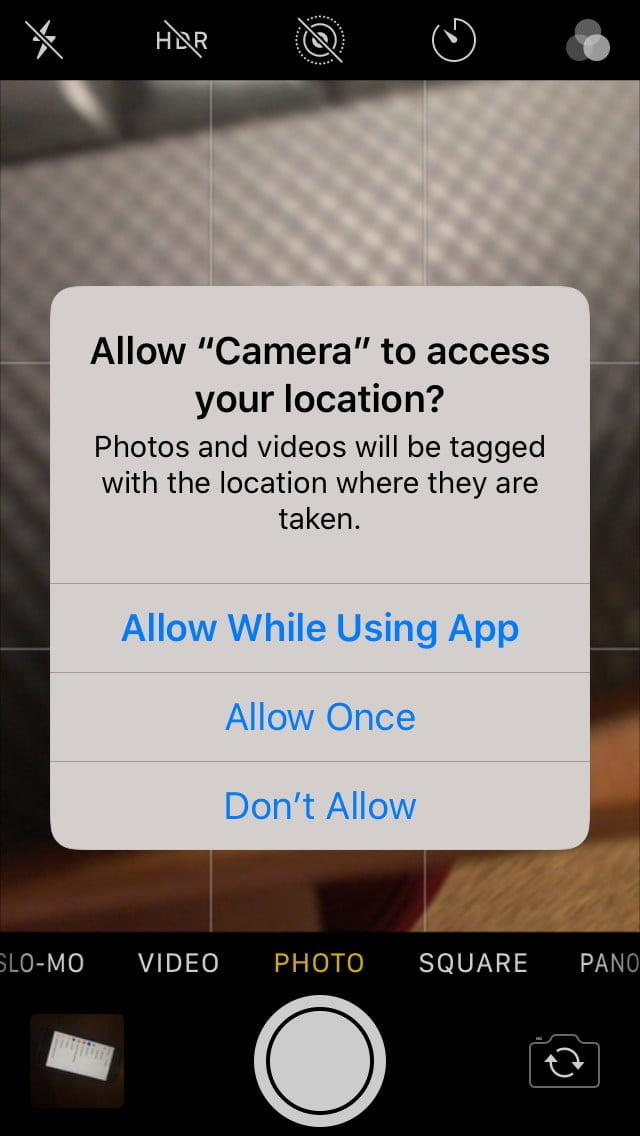 how to control ios app permissions location