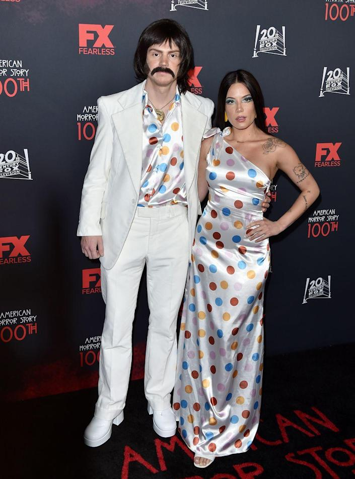 """<p>Matching polka-dot ensembles and a seriously cool mustache will turn you and your boo into the musical duo Sonny and Cher. </p><p><a class=""""link rapid-noclick-resp"""" href=""""https://www.amazon.com/XI-PENG-Casual-Sleeve-White-red/dp/B07T88MFP3?tag=syn-yahoo-20&ascsubtag=%5Bartid%7C10070.g.1923%5Bsrc%7Cyahoo-us"""" rel=""""nofollow noopener"""" target=""""_blank"""" data-ylk=""""slk:SHOP POLKA-DOT SHIRT"""">SHOP POLKA-DOT SHIRT</a></p><p><a class=""""link rapid-noclick-resp"""" href=""""https://www.amazon.com/STYLE-DOME-Strapless-Shoulder-Sundresses/dp/B09333P7HK?tag=syn-yahoo-20&ascsubtag=%5Bartid%7C10070.g.1923%5Bsrc%7Cyahoo-us"""" rel=""""nofollow noopener"""" target=""""_blank"""" data-ylk=""""slk:SHOP POLKA-DOT DRESS"""">SHOP POLKA-DOT DRESS</a></p>"""