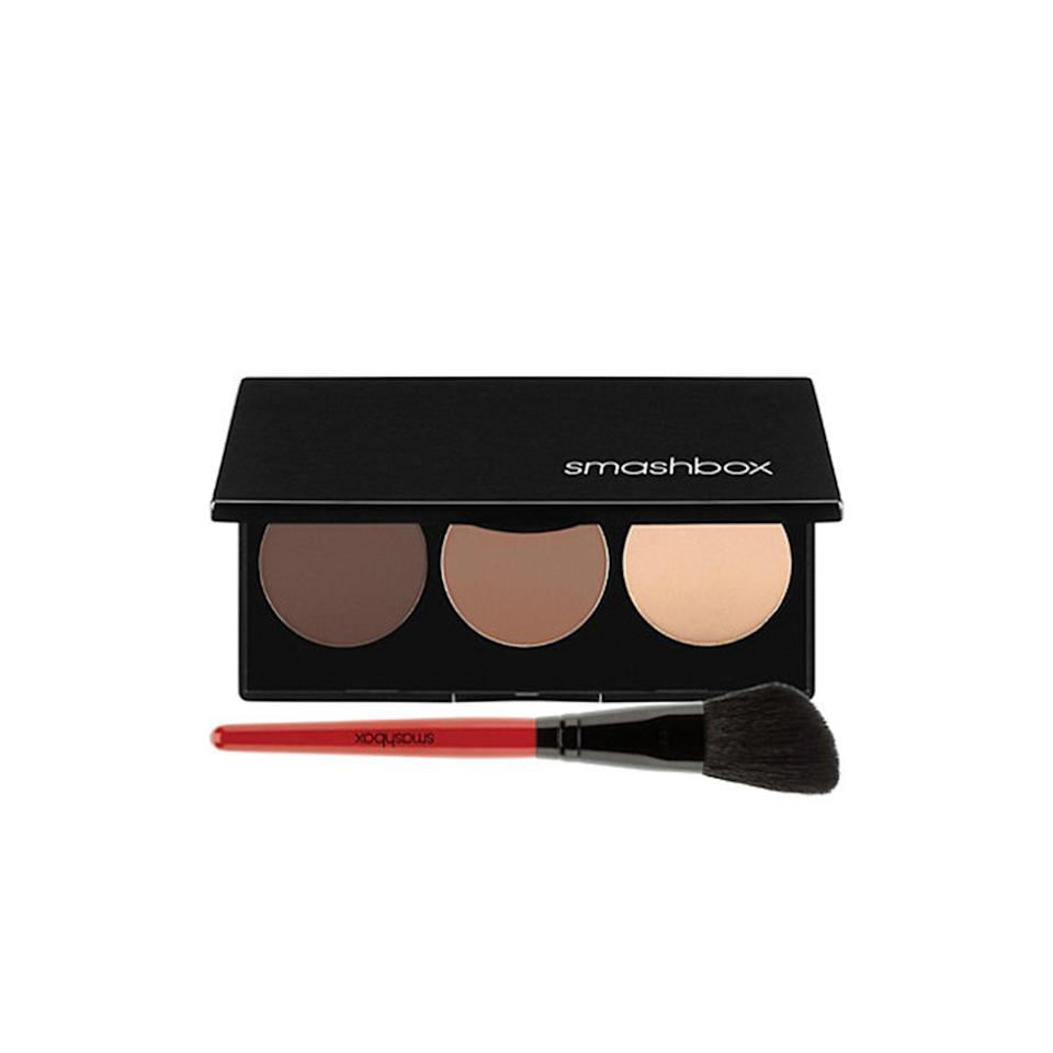 """<p><strong>Smashbox Step-by-Step Contour Kit</strong></p> <p>These three powders will help you add some bronze to your contouring routine for a glowing, sculpted look. Plus, the kit includes a handy angled brush, so you'll never have to hunt around for just the right one.</p> <p>$45 (<a href=""""http://www.smashbox.com/product/17618/18799/face/contour-highlight/step-by-step-contour-kit?mbid=synd_yahoobeauty#/shade/CONTOUR_KIT"""" rel=""""nofollow noopener"""" target=""""_blank"""" data-ylk=""""slk:smashbox.com"""" class=""""link rapid-noclick-resp"""">smashbox.com</a>).</p>"""