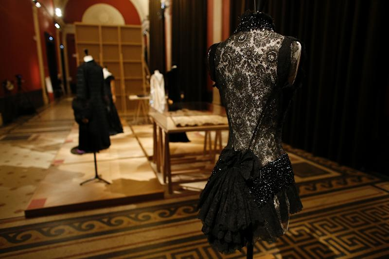 Dresses are pictured during an exhibition of the wardrobe of Elisabeth, Countess Greffulhe, the 20th century's first great fashion trendsetter, who drove Marcel Proust to distraction (AFP Photo/Thomas Samson)