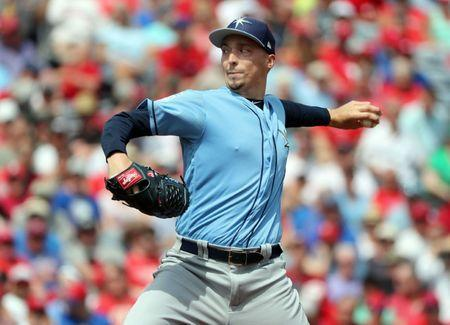 FILE PHOTO: Mar 11, 2019; Clearwater, FL, USA; Tampa Bay Rays starting pitcher Blake Snell (4) throws a pitch during the first inning against the Philadelphia Phillies at Spectrum Field. Mandatory Credit: Kim Klement-USA TODAY Sports