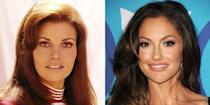 <p><em>Friday Night Lights </em>star Minka Kelly resembles actress Raquel Welch in many ways, including her wide set eyes and stunning smile. </p>