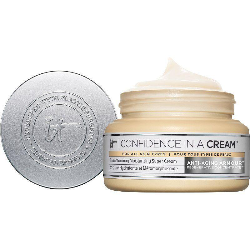 """<p><strong>It Cosmetics</strong></p><p>ulta.com</p><p><strong>$49.00</strong></p><p><a href=""""https://go.redirectingat.com?id=74968X1596630&url=https%3A%2F%2Fwww.ulta.com%2Fconfidence-in-a-cream-anti-aging-moisturizer%3FproductId%3DxlsImpprod13641053&sref=https%3A%2F%2Fwww.thepioneerwoman.com%2Fbeauty%2Fskin-makeup-nails%2Fg33557607%2Fbest-moisturizer-for-dry-skin%2F"""" rel=""""nofollow noopener"""" target=""""_blank"""" data-ylk=""""slk:Shop Now"""" class=""""link rapid-noclick-resp"""">Shop Now</a></p><p>If ever there were a magic genie moisturizer to hydrate, repair, and restore to no end, this would be it. The award-winning formula is packed with hyaluronic acid, ceramides, collagen, peptides, shea butter, vitamin E, and more. In other words, it's a must for dry skin!</p>"""