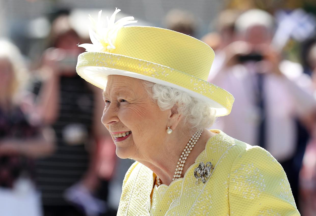 The Queen during a visit to Greenfaulds High School in the west of Cumbernauld, Scotland. [Photo: PA]