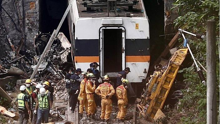 Train wreck and rescue team