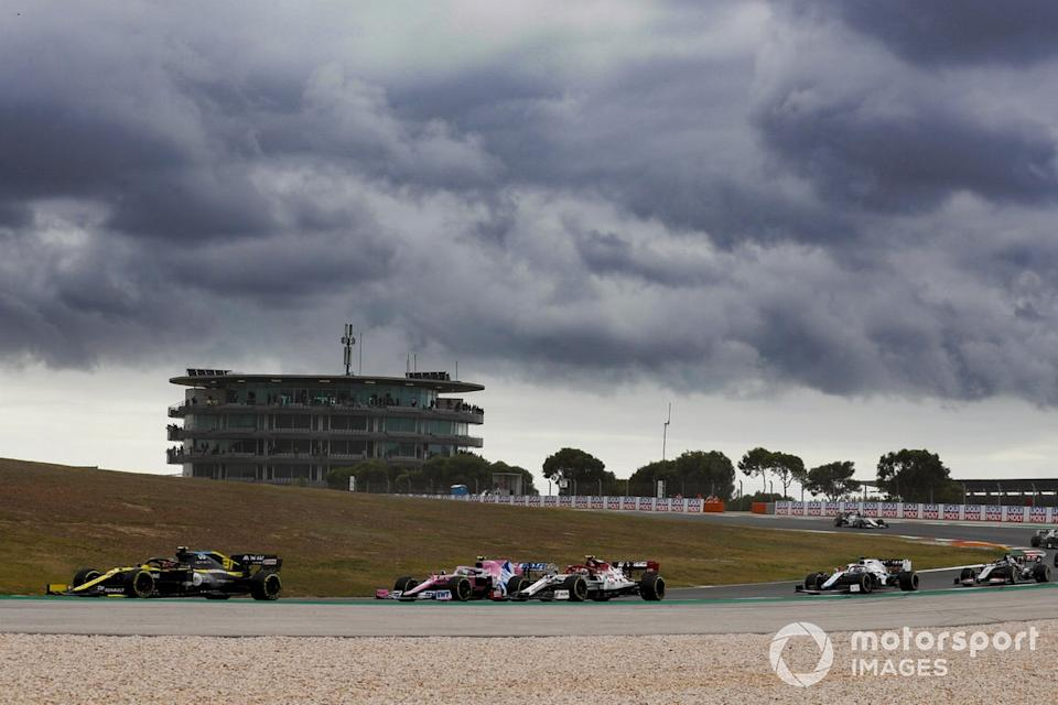 "Esteban Ocon, Renault F1 Team R.S.20, Lance Stroll, Racing Point RP20, Antonio Giovinazzi, Alfa Romeo Racing C39, George Russell, Williams FW43, Romain Grosjean, Haas VF-20<span class=""copyright"">Sam Bloxham / Motorsport Images</span>"