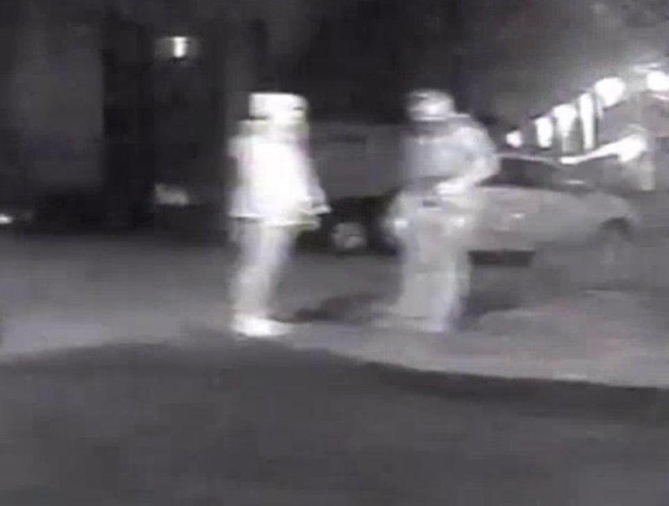 Wayne Couzens and Sarah Everard on CCTV, taken on the night she was kidnapped (Met Police/PA) (PA Media)
