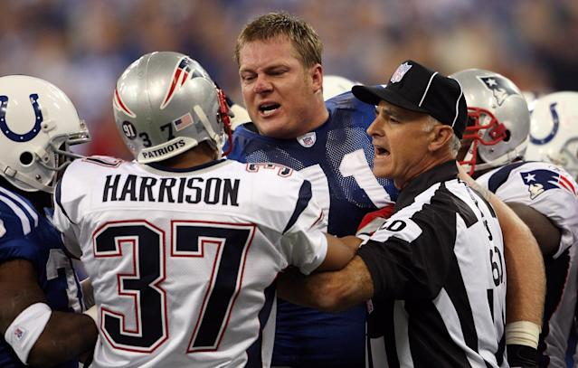 Rodney Harrison wasn't afraid to hit 'em in the mouth, to the chagrin of many in the NFL during his playing days. (Getty Images)