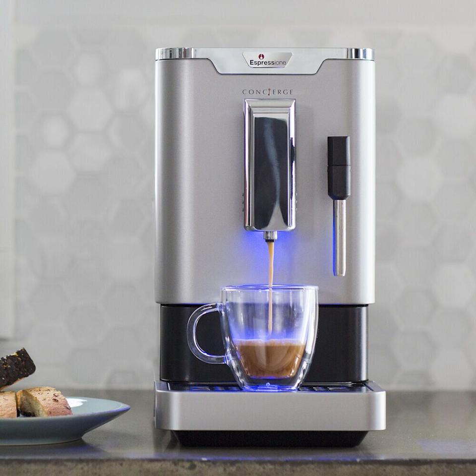 "Get the <a href=""https://fave.co/3fvN8Om"" target=""_blank"" rel=""noopener noreferrer"">Espressione Concierge Automatic Bean To Cup Espresso Machine on sale for $500</a> (normally $950) at Sur La Table."