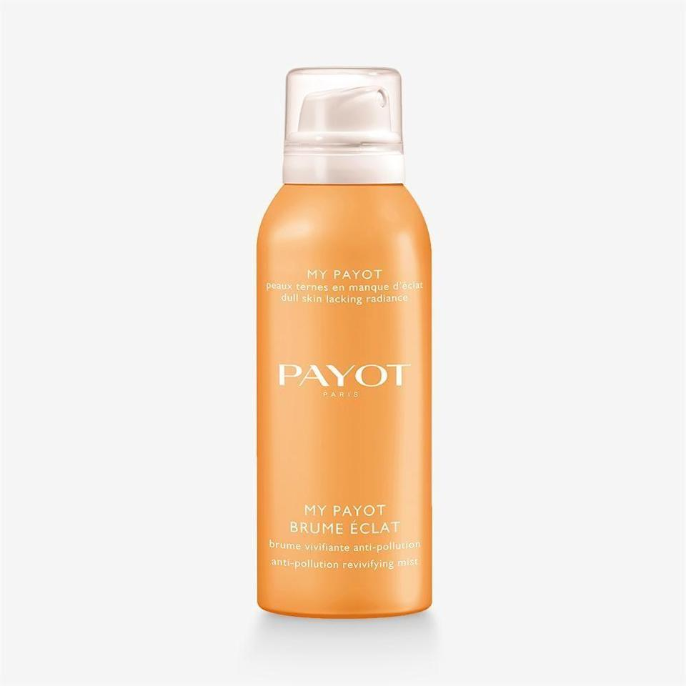 """<p><strong>payot</strong></p><p>payot.com</p><p><strong>$28.00</strong></p><p><a href=""""https://us.payot.com/products/my-payot-brume-eclat"""" rel=""""nofollow noopener"""" target=""""_blank"""" data-ylk=""""slk:Shop Now"""" class=""""link rapid-noclick-resp"""">Shop Now</a></p><p>This refreshing spritz not only smells heavenly, but it's great for dull complexions. Made with a blend of superfruit extracts and hyaluronic acid, there's also an anti-pollution factor in the mix so your skin is hydrated and protected. </p>"""